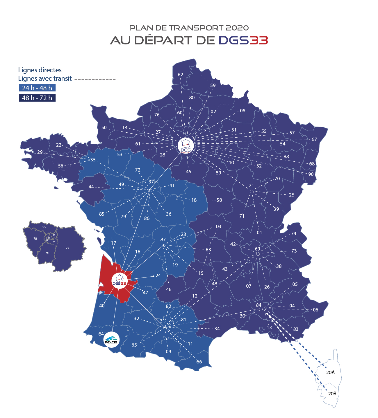 messagerie france sud plan de transport DGS 2020