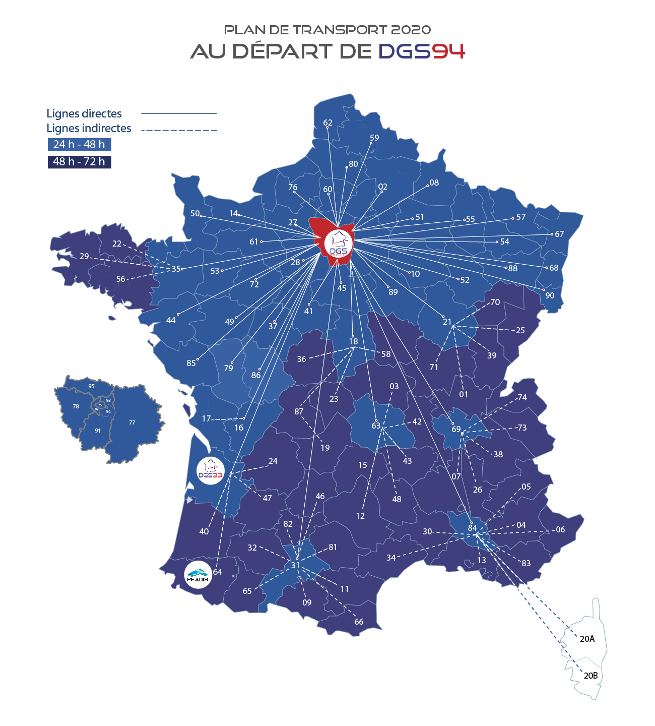 messagerie france plan de transport 2020 DGS
